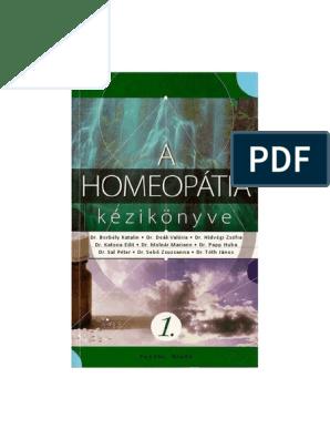 a homeopátia kézikönyve 1.1