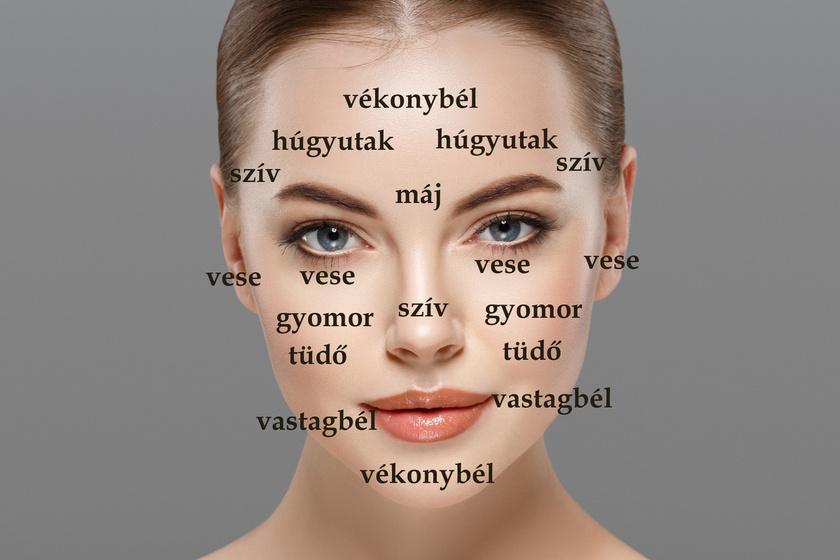 vörös folt, apró pattanásokkal az arcon)